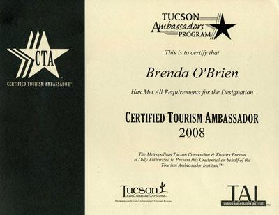 Tucson Ambassador Brenda O'Brien, CRS Long Realty