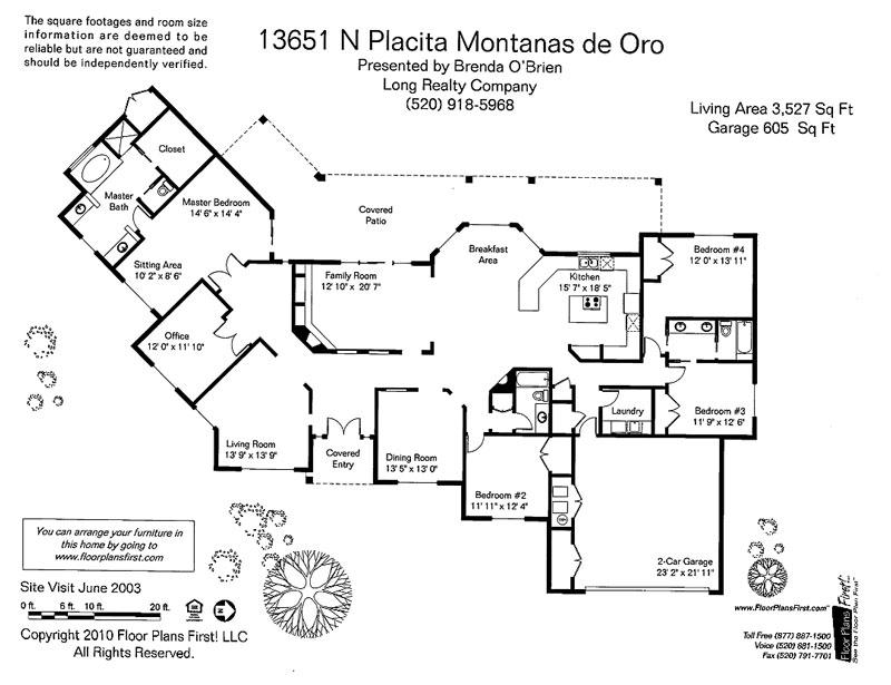 13651 Placita Montanas De Oro Floor Plan