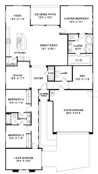 Cove at Center Point Vistoso  Bisbee Floor Plan