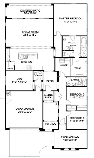 Cove at Center Point Vistoso  Jerome Floor Plan
