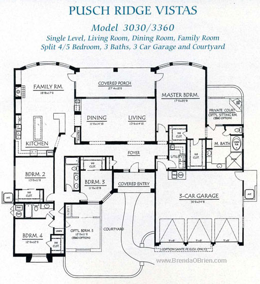Pusch Ridge Vistas Model 3030 Plan