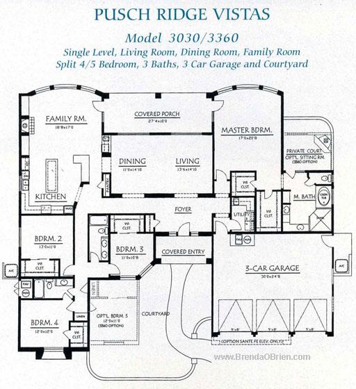 Pusch Ridge Vistas Model 3360 Plan