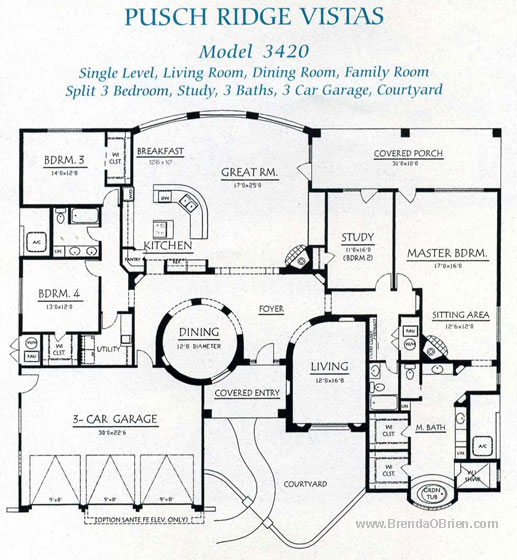 Pusch Ridge Vistas Model 3420 Plan