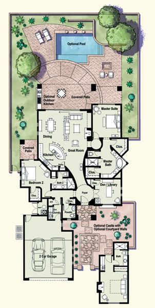 Residences at the ritz carlton tucson floor plan fremont for Tucson home builders floor plans