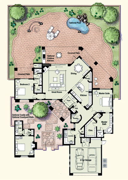 Residences at the ritz carlton tucson floor plan gadsden for Tucson house plans