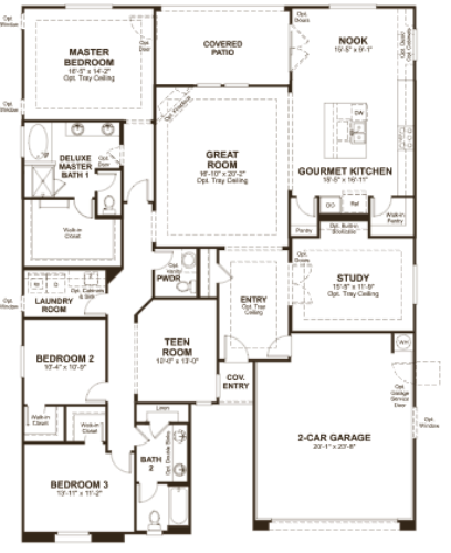 Richmond American At Vistoso Highlands Floor Plan Dominic Model