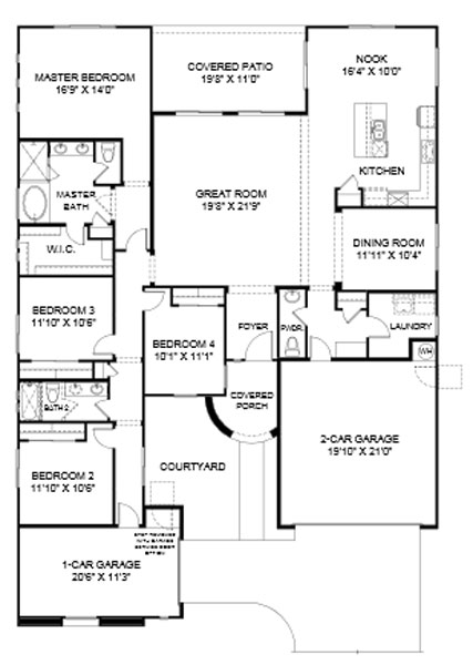 Summit at Center Point Vistoso Verbena Floor Plan