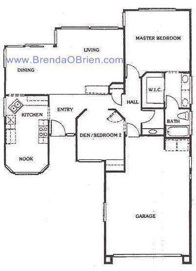 Oasis Floor Plan - 2 Bedrooms