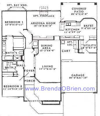 Pacifica Floor Plan - 2 Bedrooms