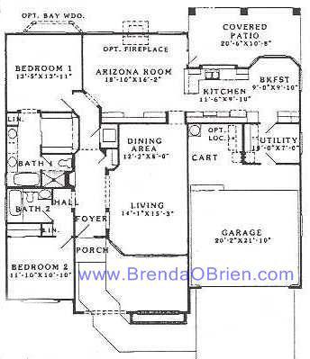 Pacifica Floor Plan - 2 Bedrooms