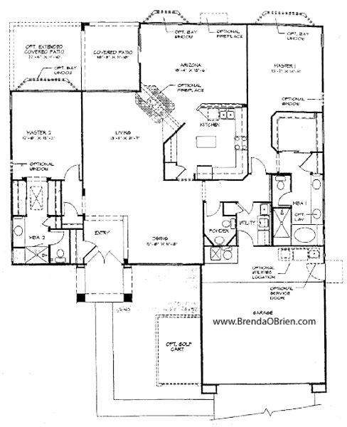 Skyline Model Floor Plan - 2 Bedrooms