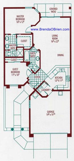 Vista Del Oro Floor Plan - 2 Bedrooms