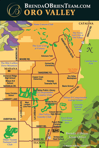 Tucson Map - Long Realty Oro Valley