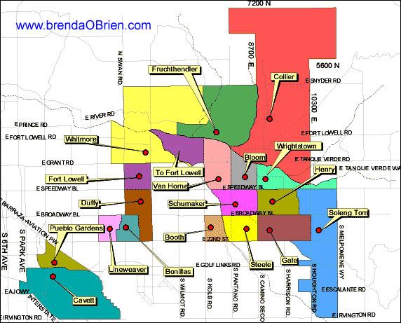Northeast Tucson Elementary School Map