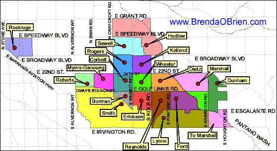 Tucson Elementary School Map